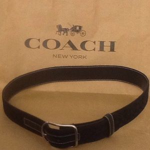 🎉new item🎉Coach leather and jaquard belt